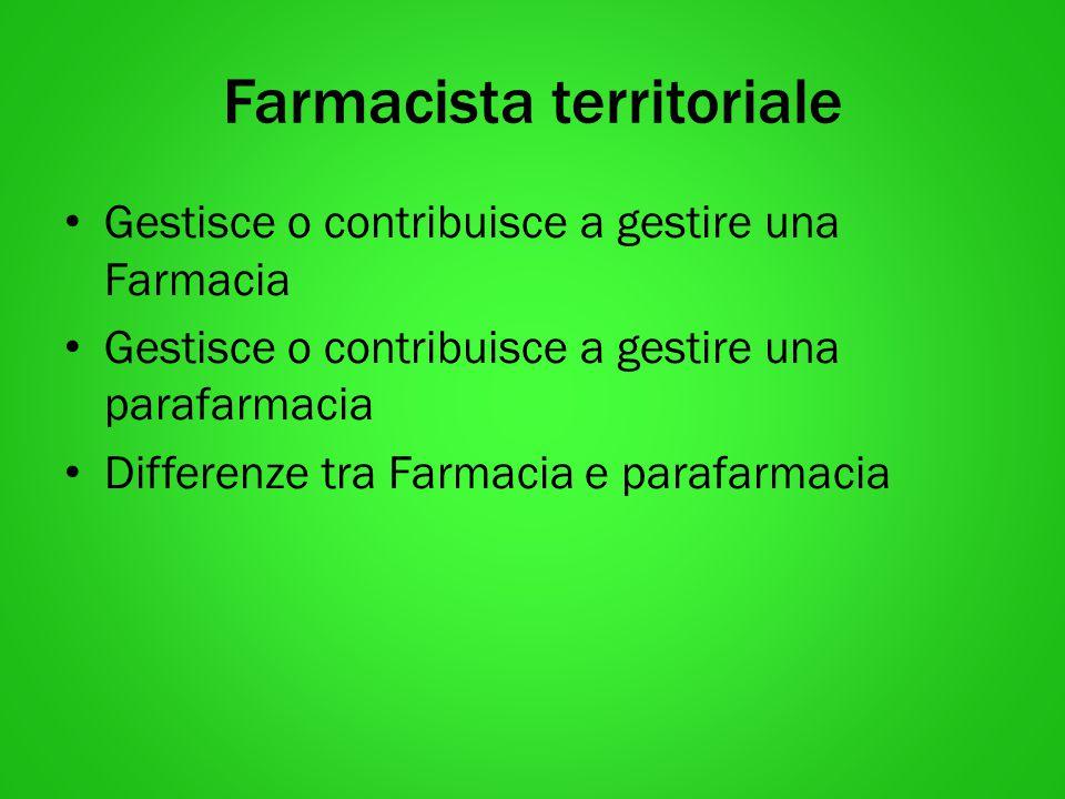Farmacista territoriale