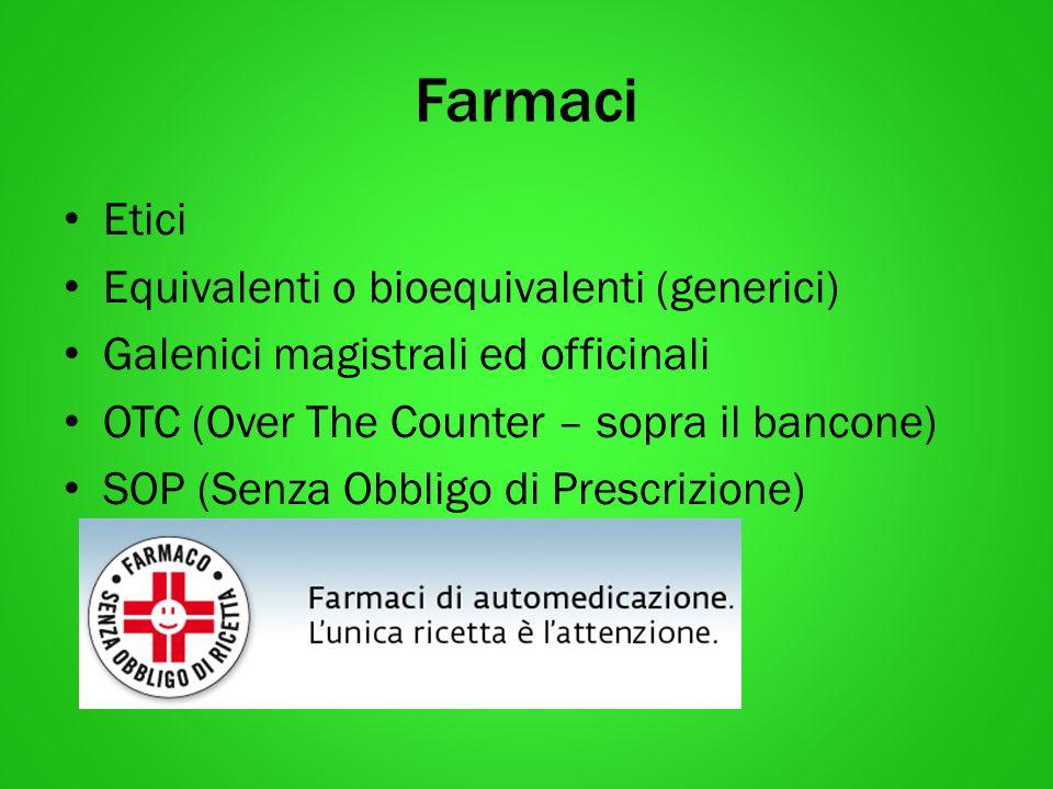 Farmaci Etici Equivalenti o bioequivalenti (generici)