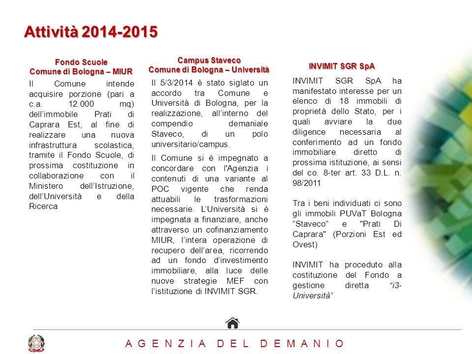 Comune di Bologna – MIUR Comune di Bologna – Università