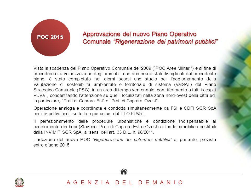 Approvazione del nuovo Piano Operativo Comunale Rigenerazione dei patrimoni pubblici