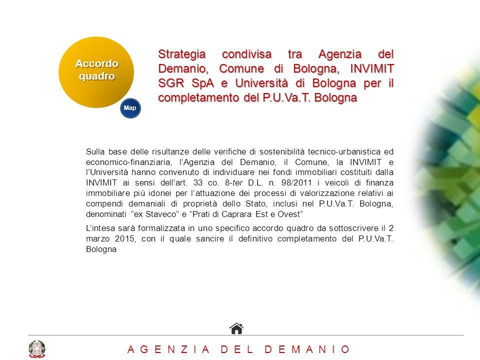 Strategia condivisa tra Agenzia del Demanio, Comune di Bologna, INVIMIT SGR SpA e Università di Bologna per il completamento del P.U.Va.T. Bologna