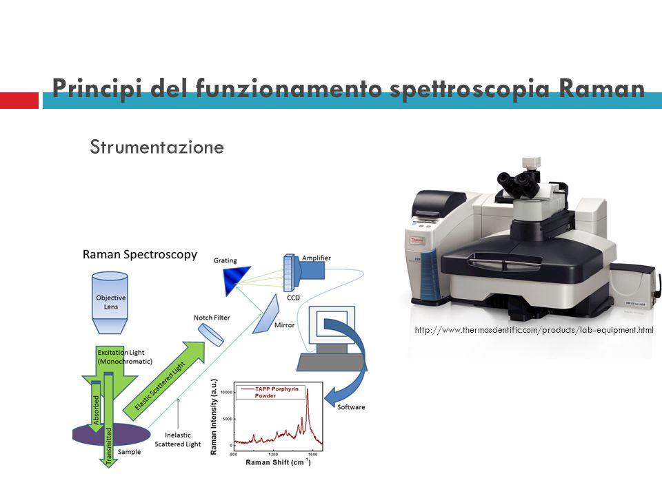 Principi del funzionamento spettroscopia Raman