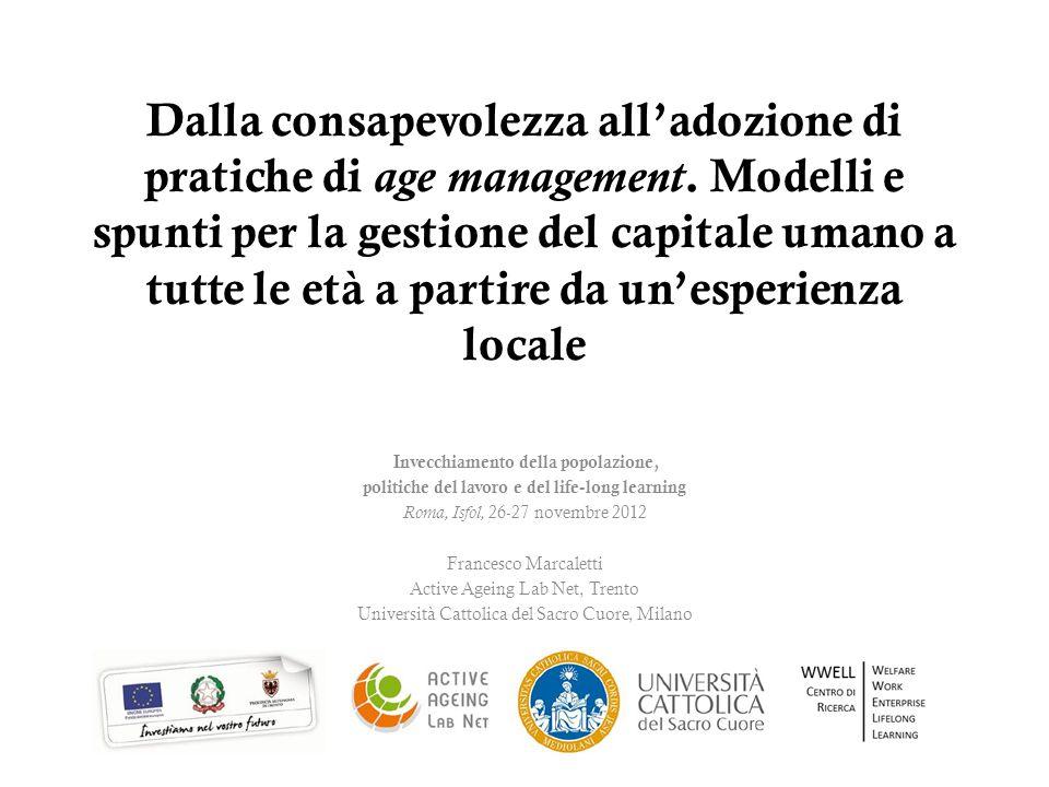 Dalla consapevolezza all'adozione di pratiche di age management