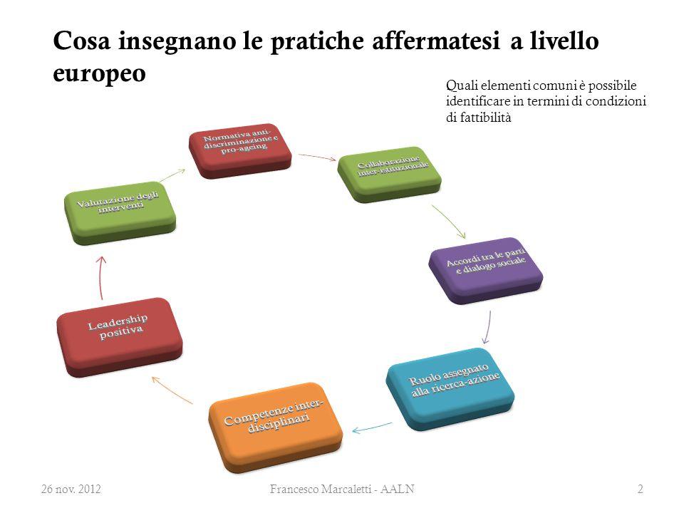 Cosa insegnano le pratiche affermatesi a livello europeo