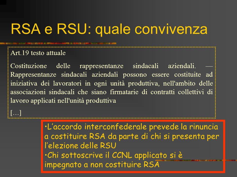 RSA e RSU: quale convivenza