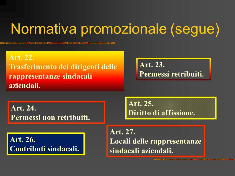 Normativa promozionale (segue)