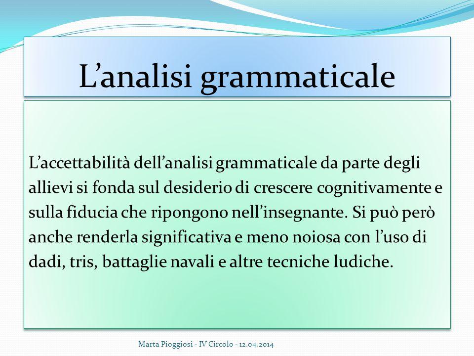 L'analisi grammaticale