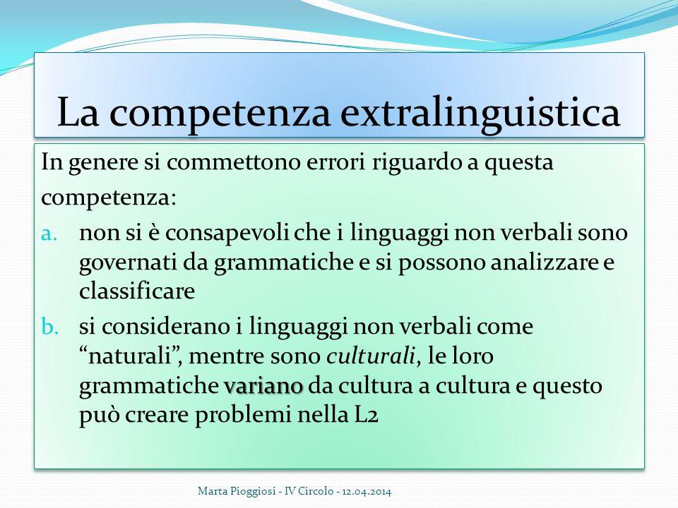 La competenza extralinguistica
