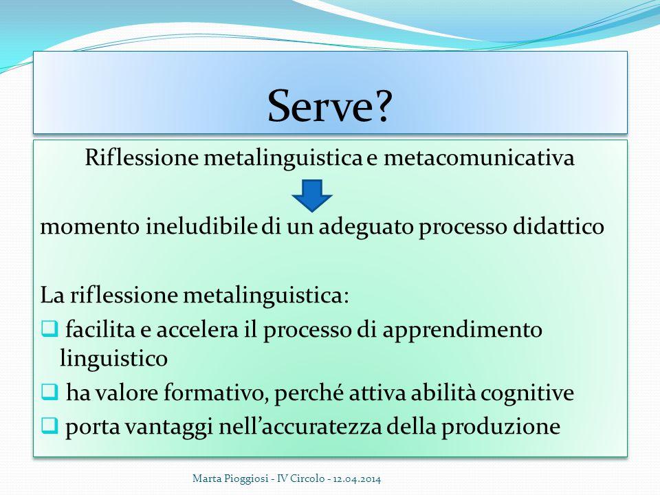 Riflessione metalinguistica e metacomunicativa