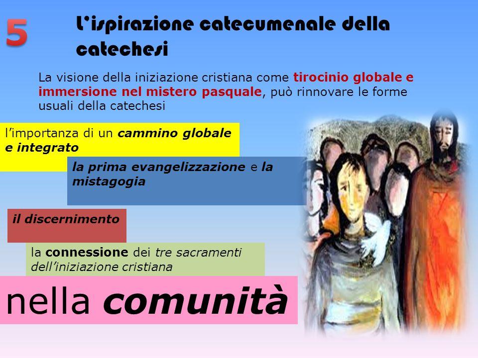 5 nella comunità L'ispirazione catecumenale della catechesi
