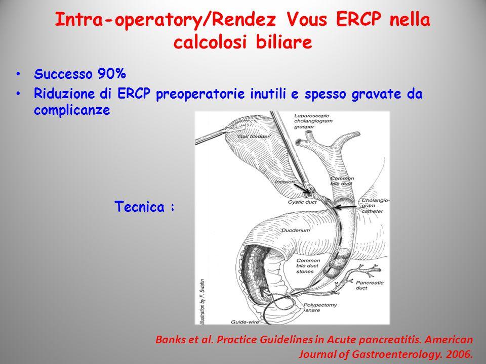 Intra-operatory/Rendez Vous ERCP nella calcolosi biliare