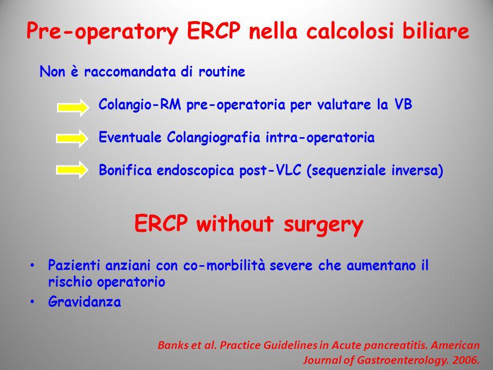 Pre-operatory ERCP nella calcolosi biliare