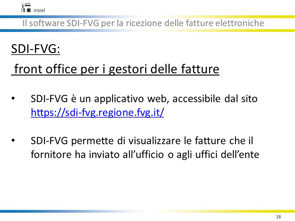 Il software SDI-FVG per la ricezione delle fatture elettroniche
