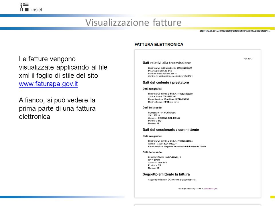 Visualizzazione fatture