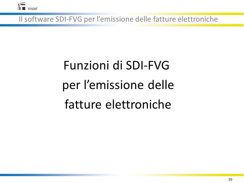 Il software SDI-FVG per l'emissione delle fatture elettroniche