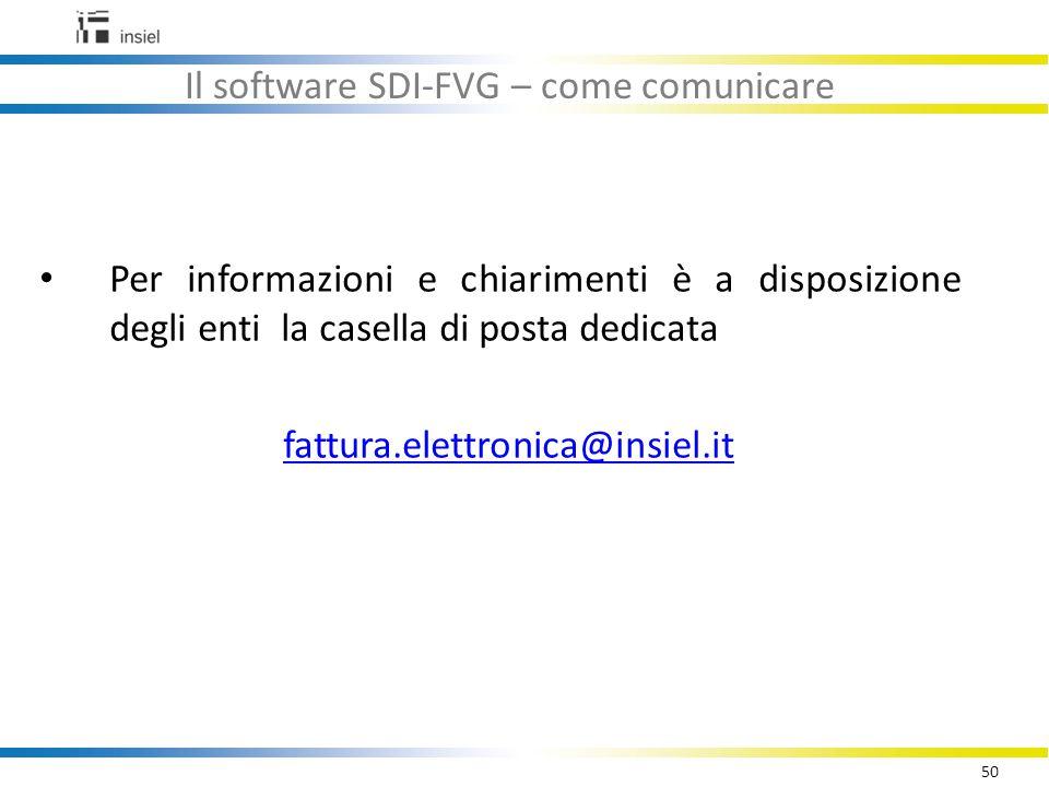 Il software SDI-FVG – come comunicare