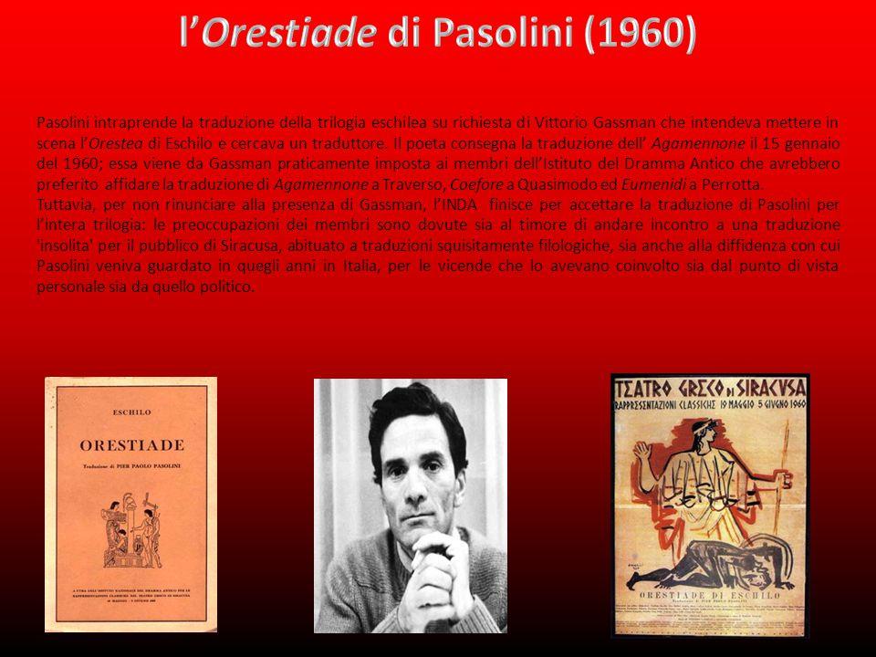 l'Orestiade di Pasolini (1960)