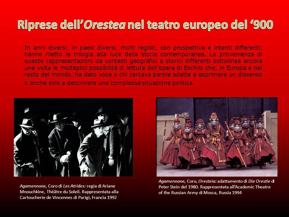Riprese dell'Orestea nel teatro europeo del '900