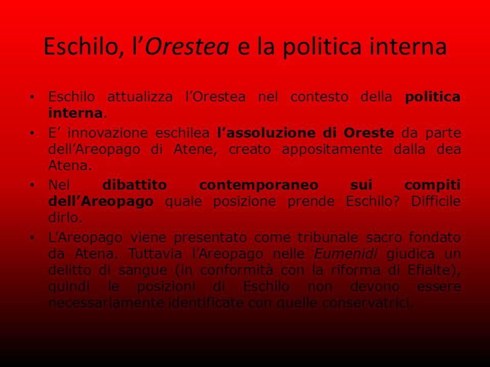 Eschilo, l'Orestea e la politica interna