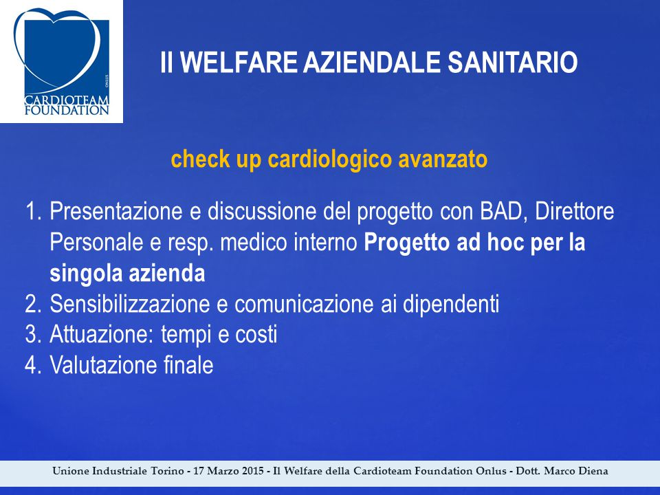 check up cardiologico avanzato