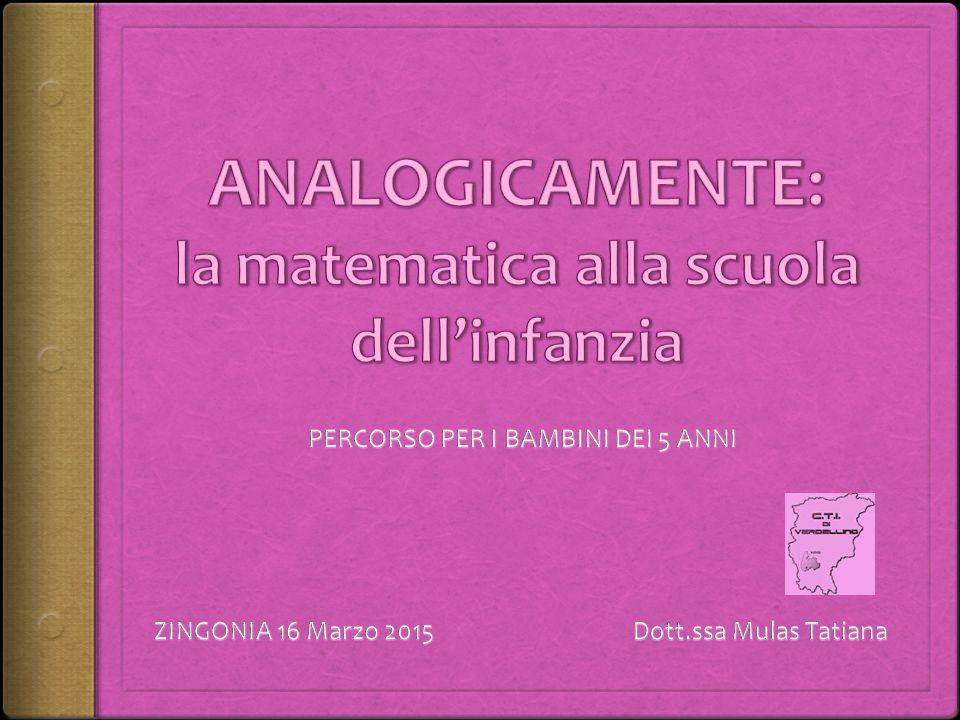 ANALOGICAMENTE: la matematica alla scuola dell'infanzia