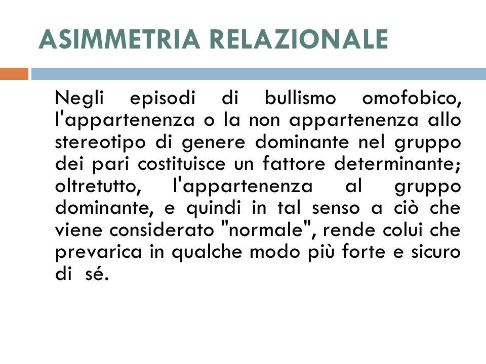 ASIMMETRIA RELAZIONALE