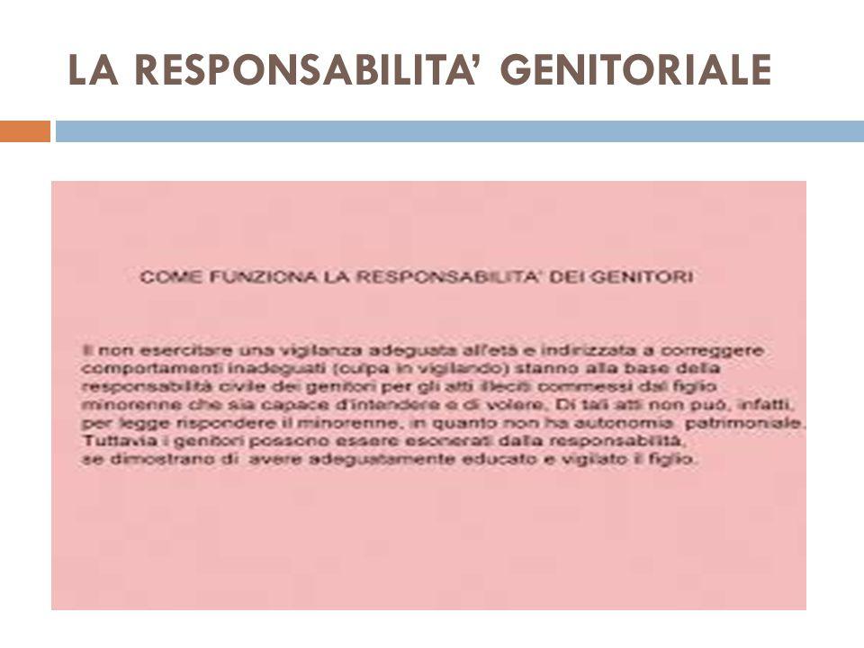 LA RESPONSABILITA' GENITORIALE