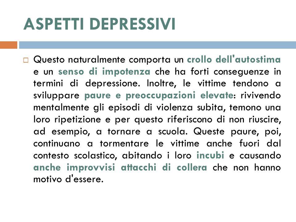 ASPETTI DEPRESSIVI