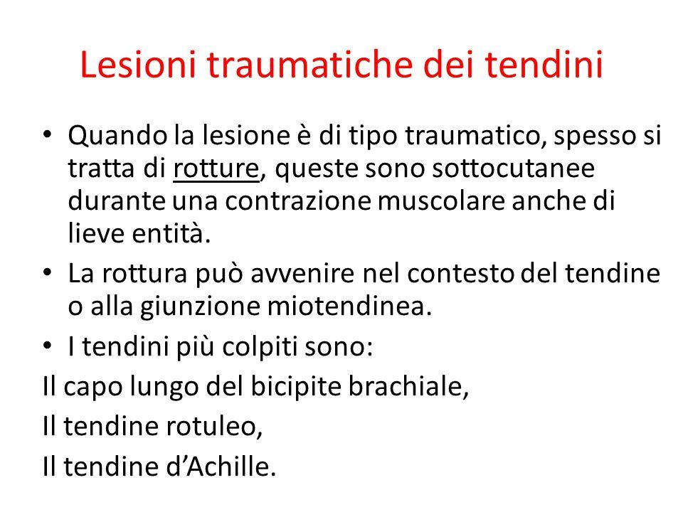 Lesioni traumatiche dei tendini