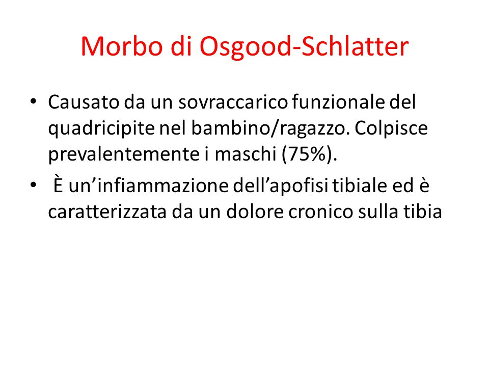 Morbo di Osgood-Schlatter