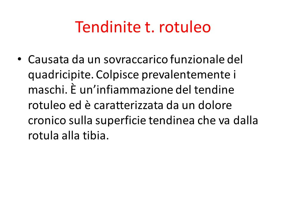 Tendinite t. rotuleo