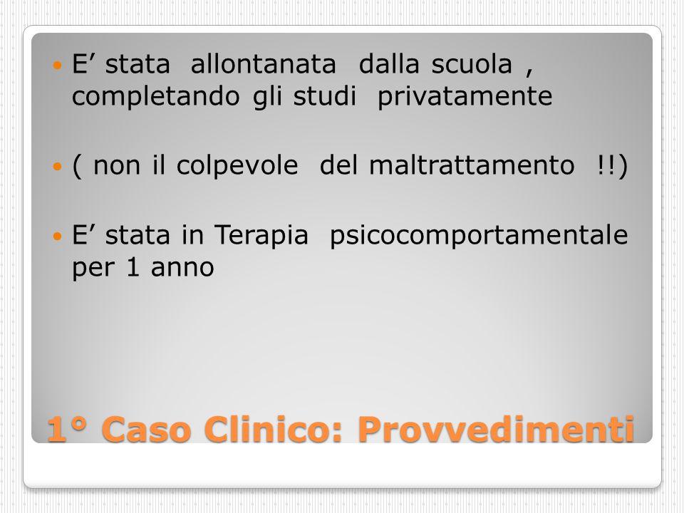 1° Caso Clinico: Provvedimenti