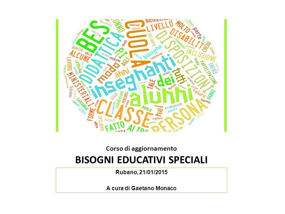 Corso di aggiornamento BISOGNI EDUCATIVI SPECIALI