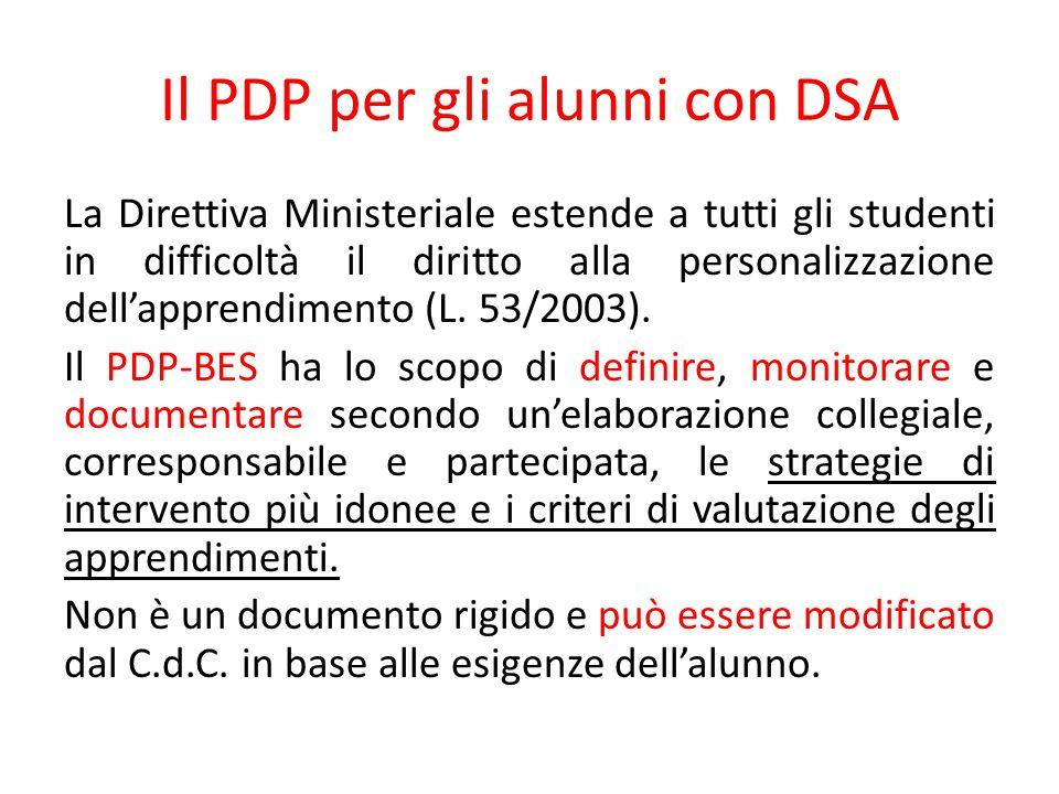 Il PDP per gli alunni con DSA