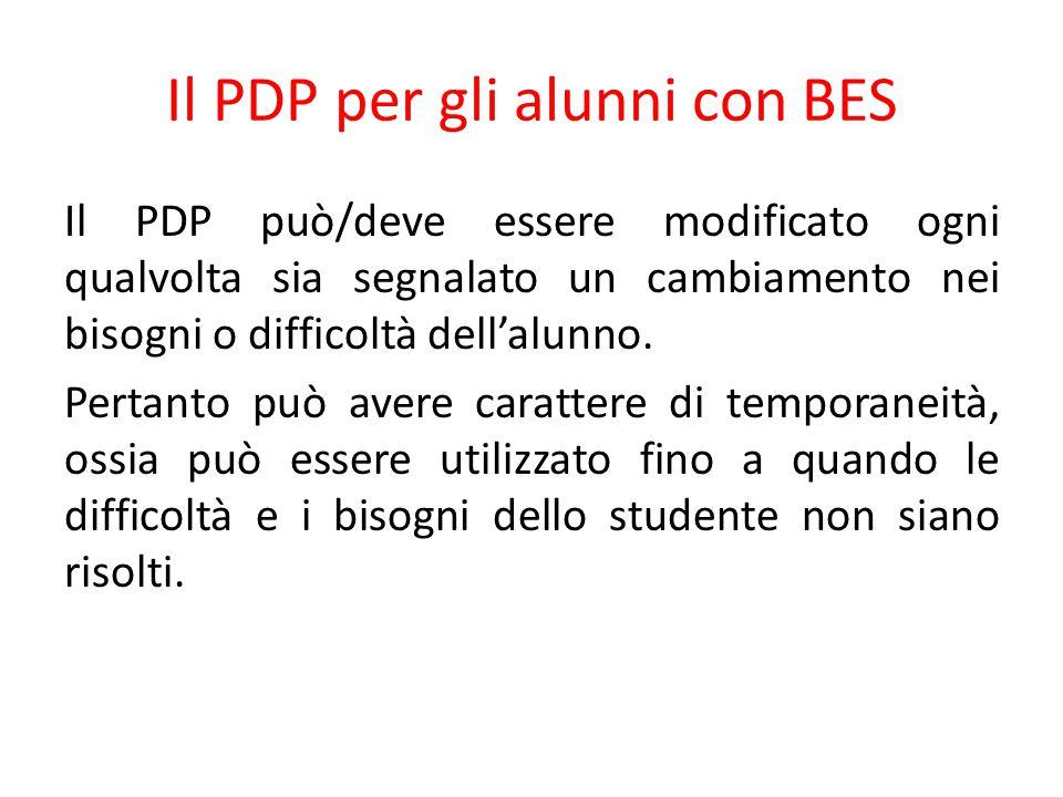 Il PDP per gli alunni con BES