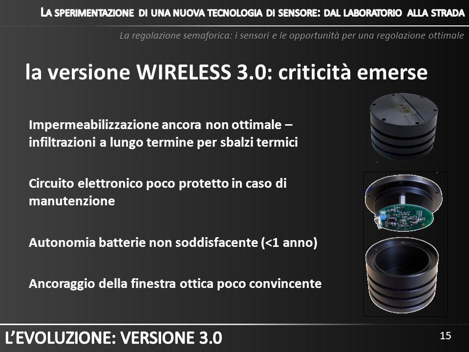la versione WIRELESS 3.0: criticità emerse