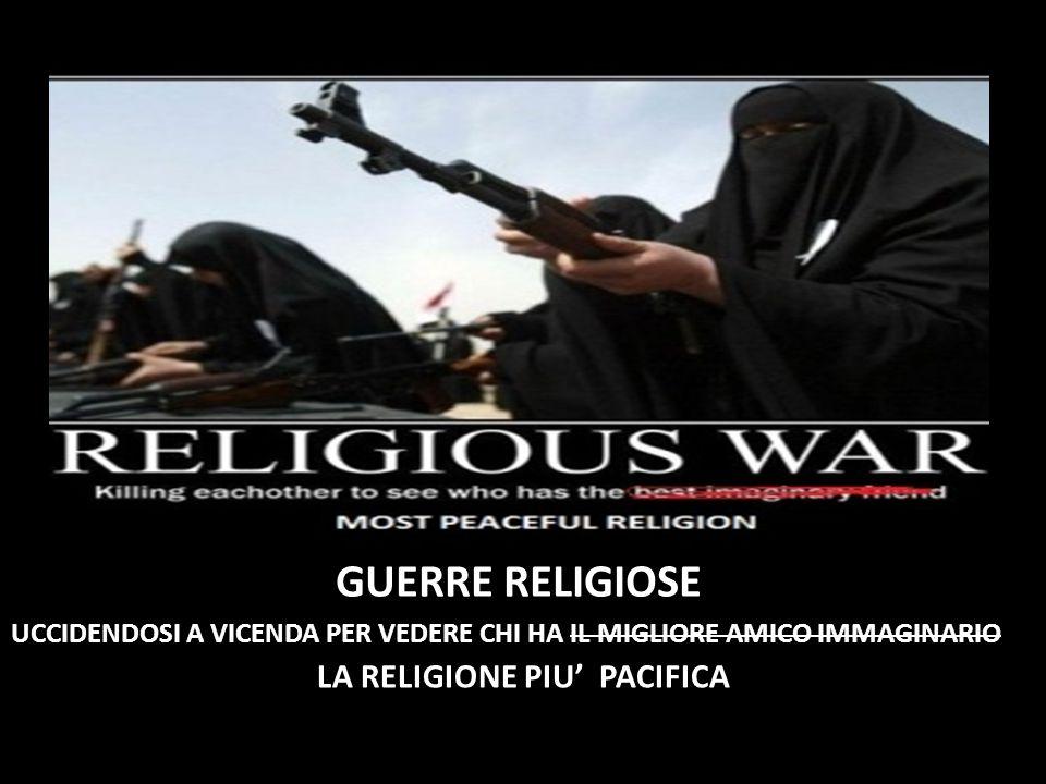 LA RELIGIONE PIU' PACIFICA