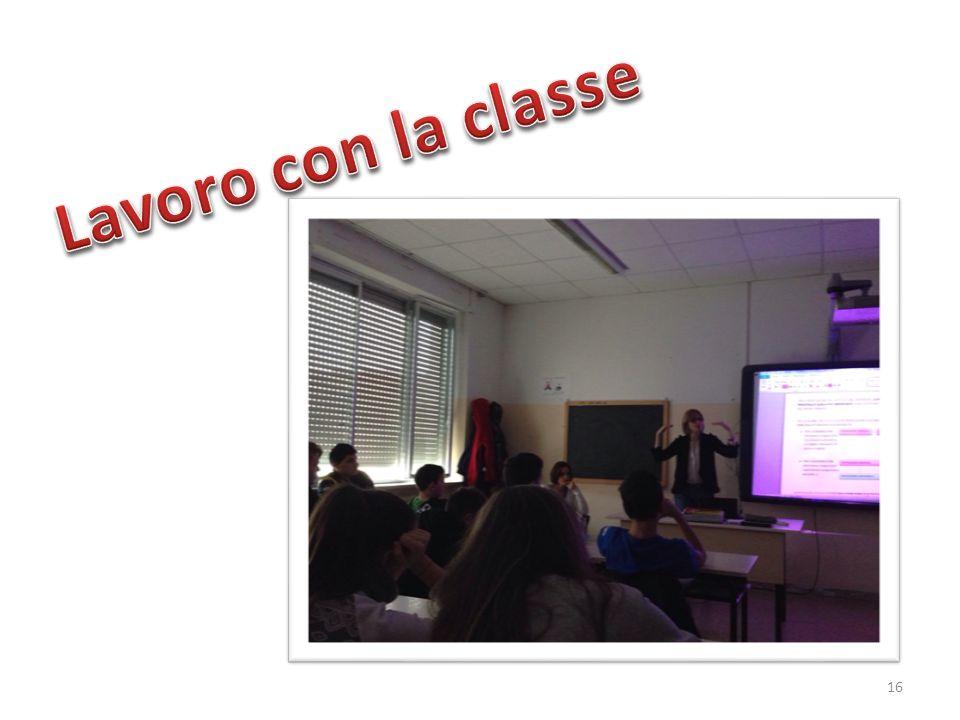 Lavoro con la classe