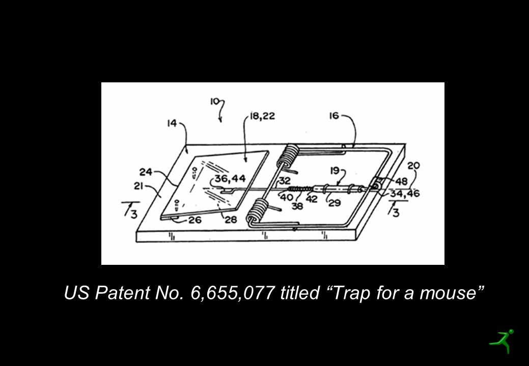 US Patent No. 6,655,077 titled Trap for a mouse