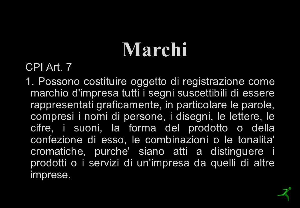 I Marchi Marchi. CPI Art. 7.