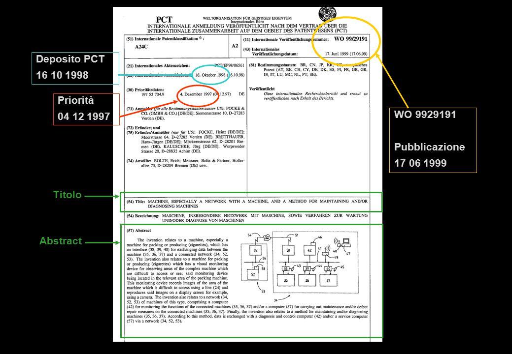 Deposito PCT 16 10 1998 Priorità 04 12 1997 WO 9929191 Pubblicazione 17 06 1999 Titolo Abstract