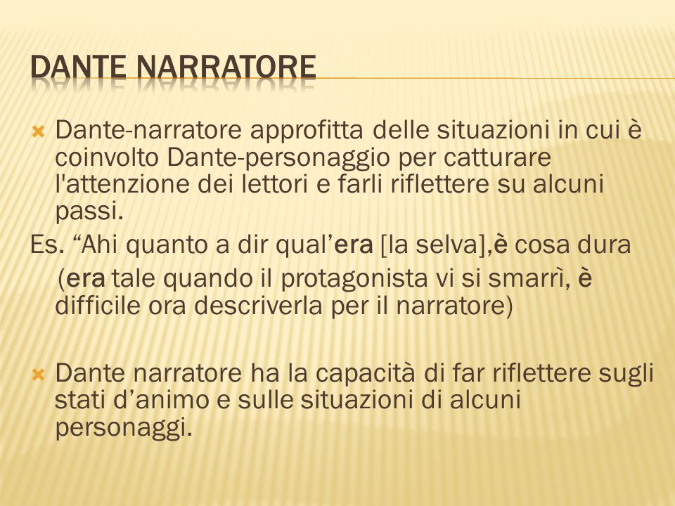 Dante narratore
