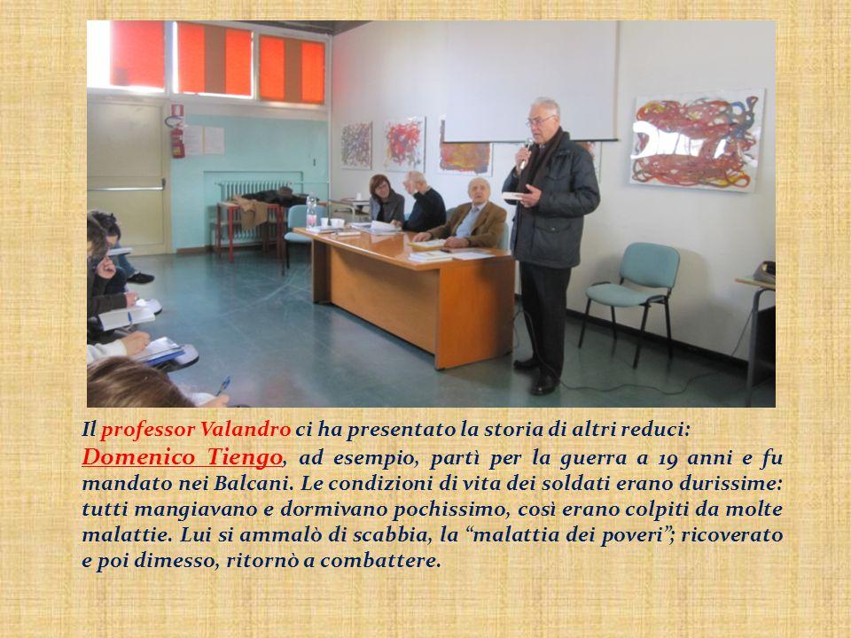 Il professor Valandro ci ha presentato la storia di altri reduci: