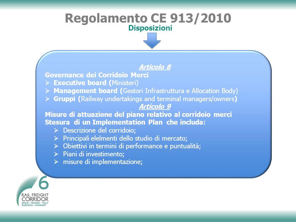 Regolamento CE 913/2010 Disposizioni Articolo 8