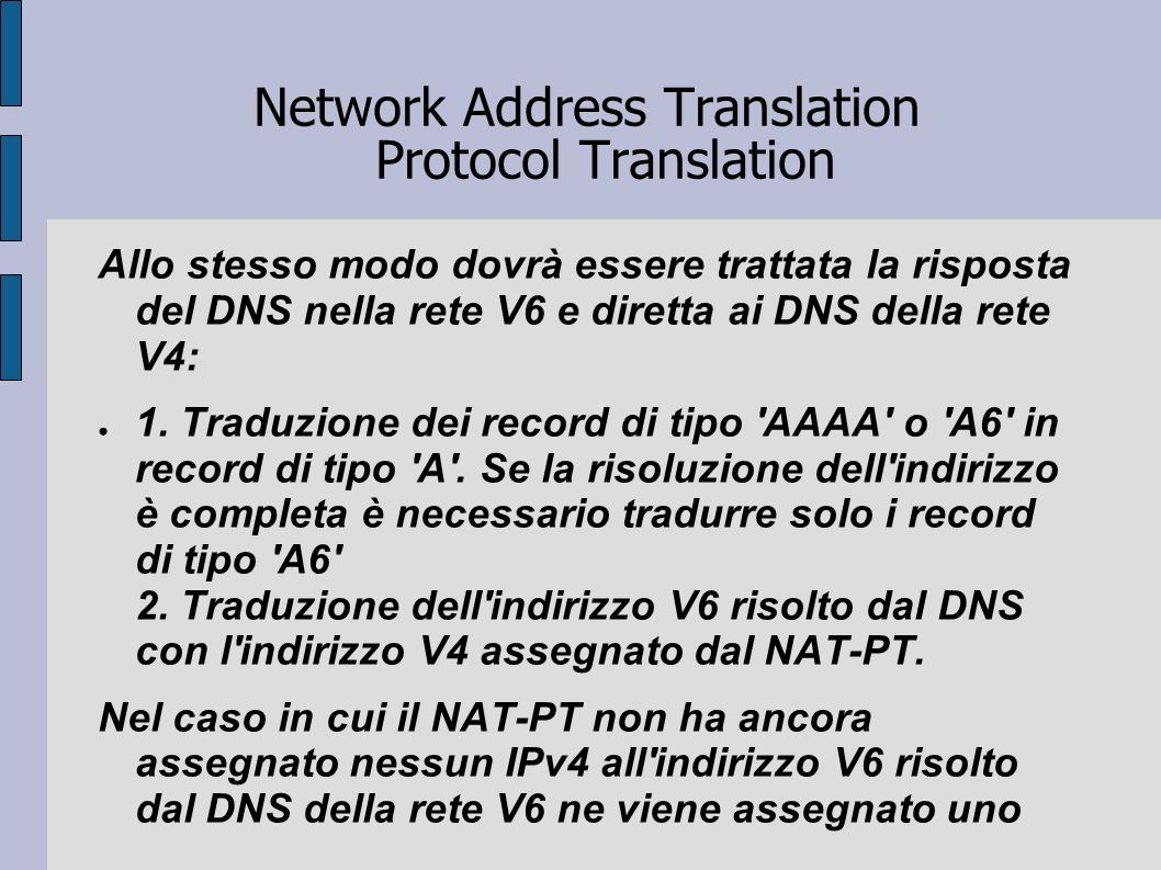 Network Address Translation Protocol Translation