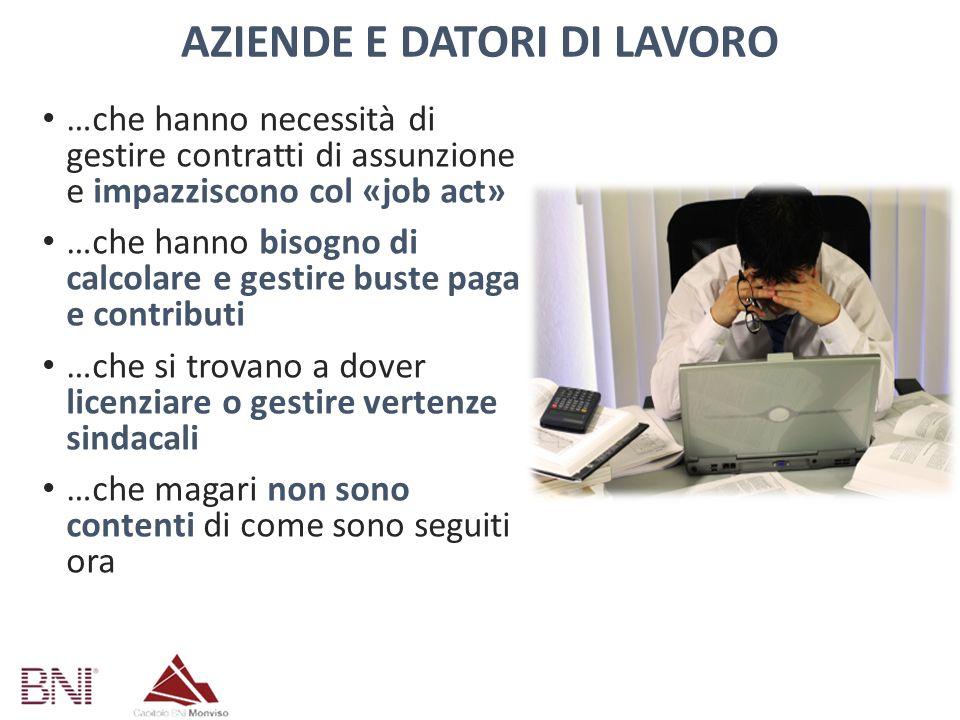 AZIENDE E DATORI DI LAVORO