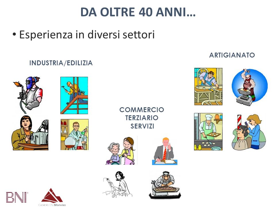 Da oltre 40 anni… Esperienza in diversi settori ARTIGIANATO