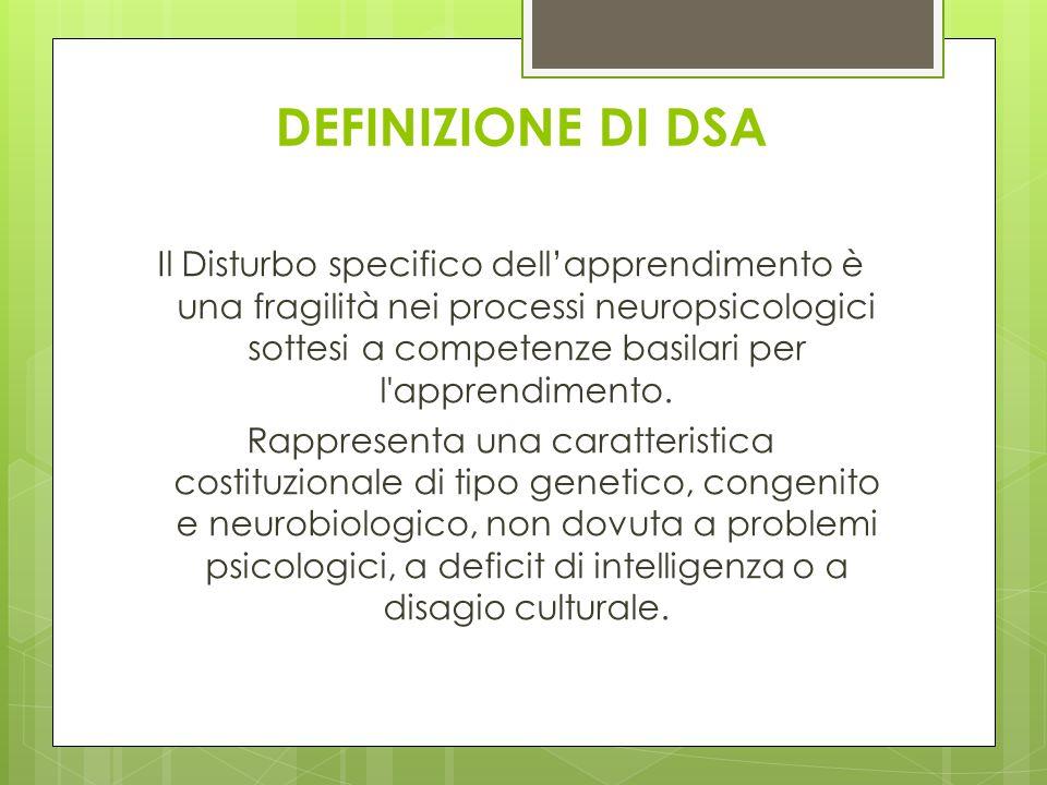 DEFINIZIONE DI DSA