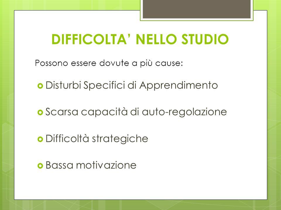 DIFFICOLTA' NELLO STUDIO