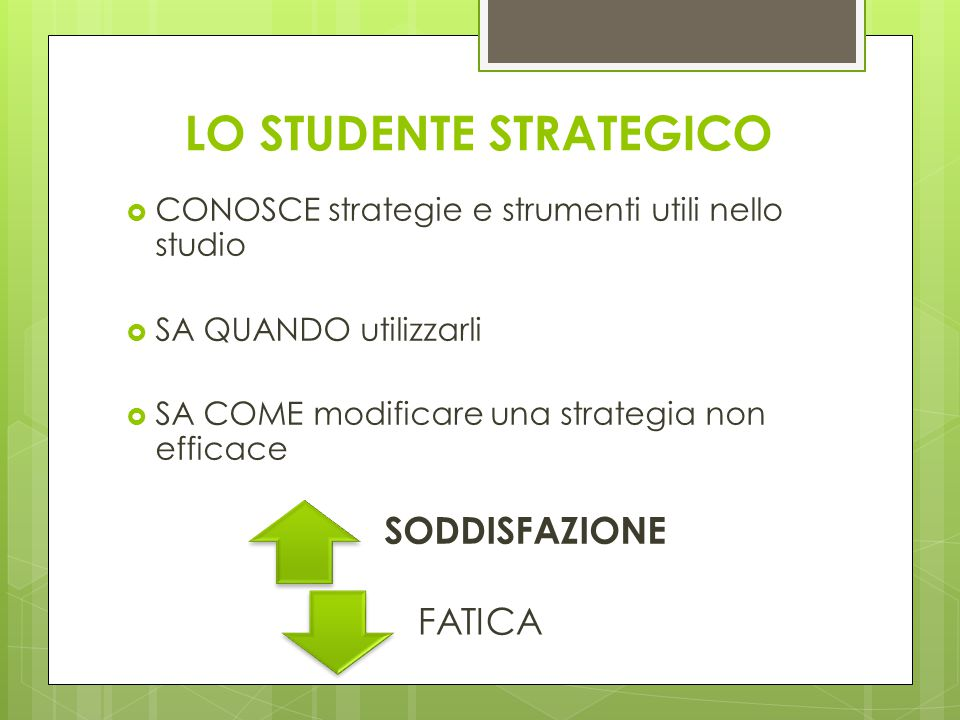 LO STUDENTE STRATEGICO